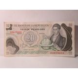 20 Veinte Pesos Oro Colombia Enero 1 De 1982 65679966
