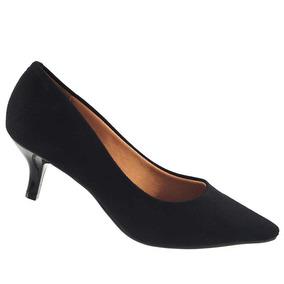 Sapato Scarpin Vizzano Camurça Flex Salto Baixo 1122.628