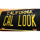 Placa California Cal Look Sur Vw Metal Troquel Normal Vlms