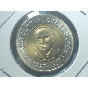 Equador- Linda Moeda Bimetálica Comemorativa 500 Sucres 1997
