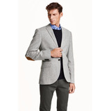 Veston Blazer H & M Tweed Premium Lana Italiana Coderas Nuev