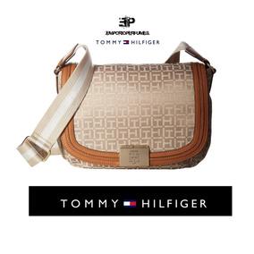 Bolsa Original Tommy Hilfiger Saddle Khaki Tonal