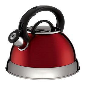 Chaleira Euro Boiler In3121 2,8 Litros Inox - Vermelha
