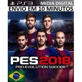 Pes 18 Ps3 Psn Português Pro Evolution Soccer Jogo Digital