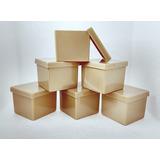 75 Caixinha Acrílica 5x5 Dourada - Caixa Luxo P/ Casamento