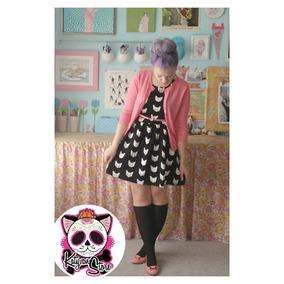 Vestido Calavera Esqueleto Gatos Moda Asiatica Grunge Rock