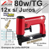 Grampeador Pneumático 80w Tg 14mm Pacar Industrial 12x S/j