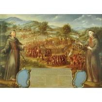 Lienzo Tela Martirio A Curas Páez 1770 50 X 65 Cm Arte Sacro