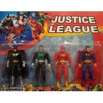 4 Bonecos Liga Da Justiça Batman Superman Lanterna Flash