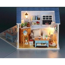 Kit Diy Dollhouse Miniatura Cubierta Caliente Secreto Sala A