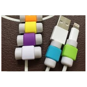 Protector De Cable Lightning Iphone Ipad 11 Colores