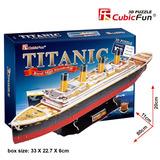 Puzzle 3d Barco Titanic Cubicfun T4011h