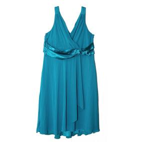 Vestido De Fiesta Corto Turquesa Talla 20w Americano Nuevo