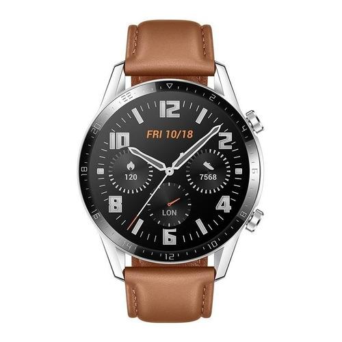 """Huawei Watch GT 2 Classic 1.39"""" caja 46mm de  metal y plástico  stainless steel malla  pebble brown de  cuero LTN-B19"""