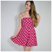 Vestido Pink Com Estampa De Abacaxi E Alçinha