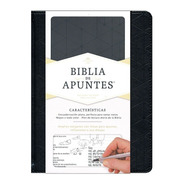 Biblia De Apuntes Color Negro Simil Piel