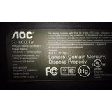 Televisor Aoc L37w831 Desarme - Mainboard - Lámparas Ccfl