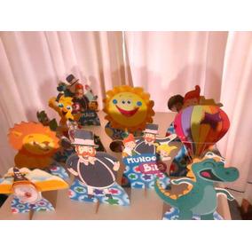 Mundo Bita Kit Decoração De Festa 10 Display Mdf