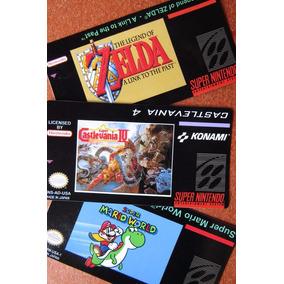 Labels Adesivas Para Cartuchos Super Nintendo - S-nes 100%