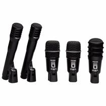 Kit De Microfone Para Bateria Superlux Drk A3 C2 Com 5 Peça