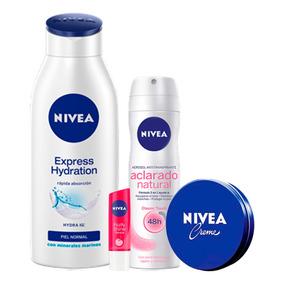Combo Crema Nivea + Des Nivea Aclarado + Prot. Labial + Obse