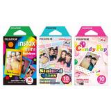 Fujifilm Instax Mini Película Arco Iris 10 Sheets X 3 Pak