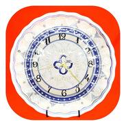 Reloj Blanco Fino 35 Cm De Talavera Poblana Rj Bl