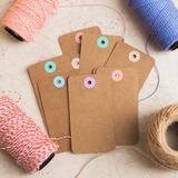 Tags / Etiquetas / Souvenirs De Papel Craft Personalizadas