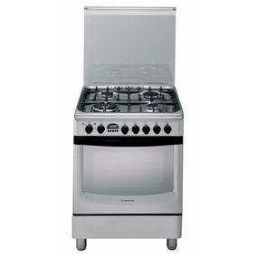 Cocina Ariston Combinada 60cm Horno Eléctrico Cx 660i P6