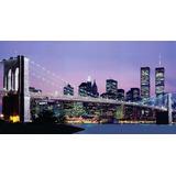 Cuadro Moderno Panorámico, Nueva York, 80x150 Cm.