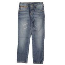 Calça Infantil Menino Jeans Tradicional C/detalhe Couro Cara
