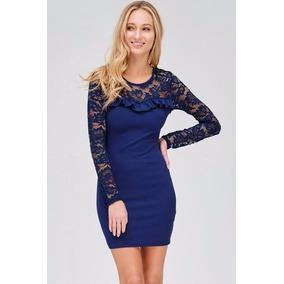 Vestido De Noche Color Azul Marino