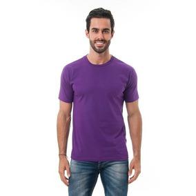 Camiseta Azul Marinho Algodão Lisa Básica Tradicional Camisa