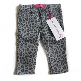 Pantalon De Mezclilla Para Bebe Estampado Leopardo 12 Meses
