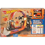 Mega Pista De Choques Hot Wheels Track Builder Construction