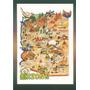 Az-10308 - Postal Mapa Estado Do Arizona, - U S A
