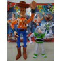 Kit Bonecos Toy Story Wood + Buzz Lightyear Brinquedo Musica