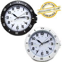 Relógio De Parede Am Pm Decorativo 30cm Cozinha Sala Quarto