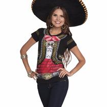 Playera Mujer Fiestas Patrias Mariachi Disfraz