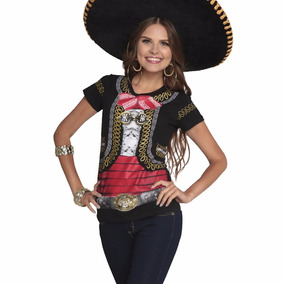 Playera Mujer Hombre Charro Fiestas Patrias Mariachi Disfraz