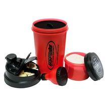 Shaker 3 En 1 Embudo, Contenedor Para Proteina Y Tabletas