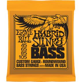 Cuerdas De Bajo Eléctrico 4 Cuerdas Ernie Ball Hibrid Slink