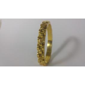 Pulseira Banhada A Ouro Marca Rolex Importado Novo Em Caixa