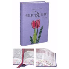 Bíblia Sagrada Estudo Da Mulher Ra Média Violeta Florida