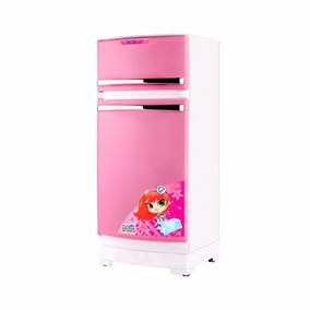 Geladeira Crianças Rosa E Acessórios De Cozinha - Magic Toys