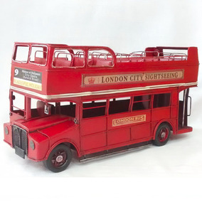 Autobús Clásico Ingles Londres Doble Piso Vintage Sin Techo