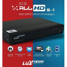 Dvr Hvr Luxvision Ecd 4 Canais Full Hd 5x1 Lvdvr9804a 1080p