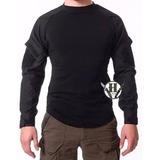 Remera Tactica Combat Shirt Us Negra Rip Stop Policia Origin