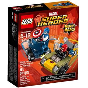 Lego Super Heroes 76065 Mighty Micros Cap América Craneo Roj