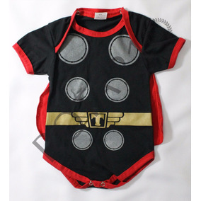 Body Infantil Thor Com Capa Super Herois